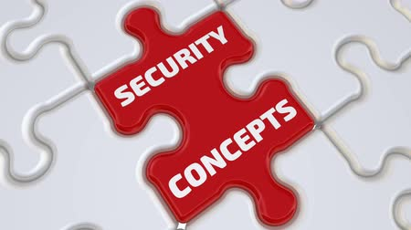 Security concepts puzzle. The inscription