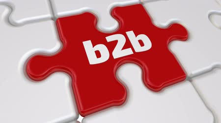 compiled : B2B puzzle Stock Footage