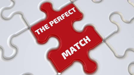 головоломки : The perfect match Стоковые видеозаписи