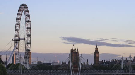 táj : Evening timelapse London eye Big Ben