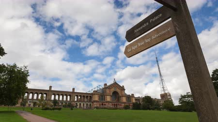 alexandra park : Alexandra Palace in London, Time-Lapse Stock Footage