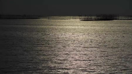 HD video the reflection darkness from sunset in the sea