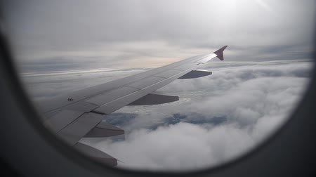 HD video Beautiful cloudy movement take on airplane