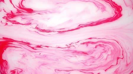 artistik : Stains of pink ink on the water. Abstract background footage. Stok Video