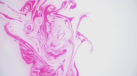 marmorizado : Stains of pink ink on the water. Abstract background footage. Stock Footage