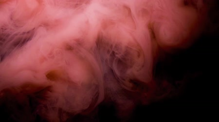tintas : Red ink spreading in water, abstract footage for motion design. Stock Footage