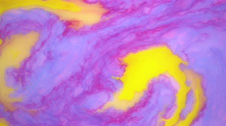 marmorizado : Stains of color ink on the water. Abstract background footage.