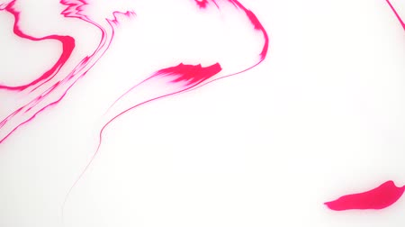 marmorizado : Stains of pink and white ink on the water. Abstract background footage. Vídeos