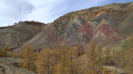 arenito : Altai, natural park, famous Altai Mars valley view. Stock Footage