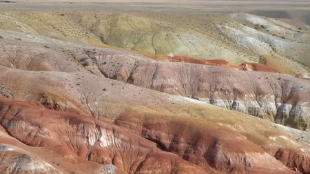 Altai, natural park, famous Altai Mars valley view. 動画素材