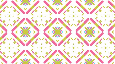 sekans : Colorful kaleidoscope sequence pattern, 4k. Abstract multicolored motion graphics background. For clubs, shows, fractal animation. Stok Video