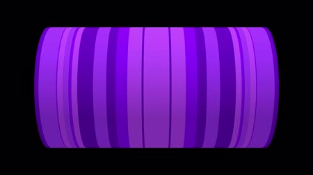 silindir : Seamless loop 3D animation of a cylinder shape with moving pattern for video backgrounds, visual performances, presentations. 3D rendering on black background.