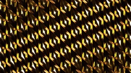 endless gold : Abstract golden blocks rotating pattern. Loop animation. 3D rendering.