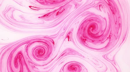 marbling : Abstract paint ink in motion. Psychedelic background footage. Colorful spots.