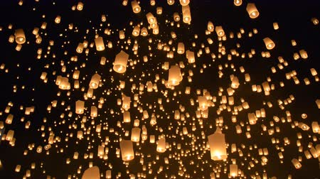 yeepeng : Yeepeng Sansai Floating Lantern Ceremony to pay Homage to the Lord Buddha,Chiangmai Thailand.