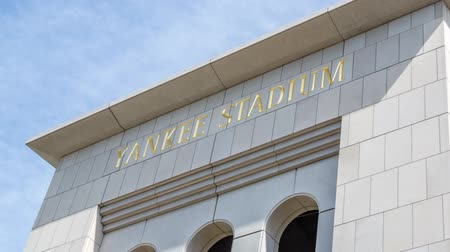 bronx : The famous Yankee Stadium sports building entrance
