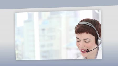 educar : Montage of business people on the phone at work Stock Footage