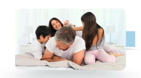 image house : Montage of a family sharing moments together at home Stock Footage