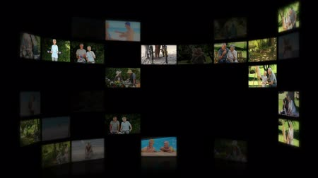emekli : Montage of elderly couples relaxing outdoors Stok Video