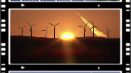 панель : Montage illustrating the green energies and the environment respect Стоковые видеозаписи