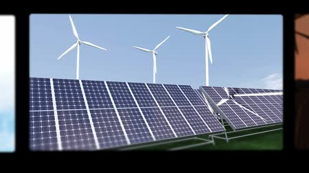 energy generation : Montage illustrating the solar and wind energies