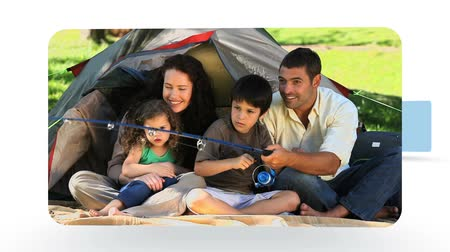 eğlence oyunları : Montage of couples and families enjoying some moments together in the nature
