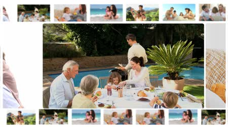 yüzme havuzu : Montage of family members sharing moments together