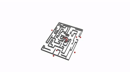 forma tridimensional : Moving money maze against a white background