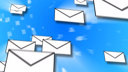 e mail address : E-Mail Concept Animation with many letters travelling through cyber space Stock Footage