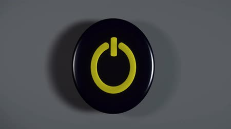 comutar : 3d Computer start Button blinking
