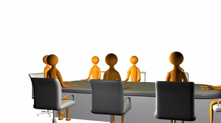 sala de reuniões : Business board meeting in High Definition Stock Footage