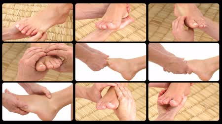 unha : Animation presenting the feet massage in a spa center