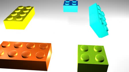 montáž : 3d Building Blocks Coming together