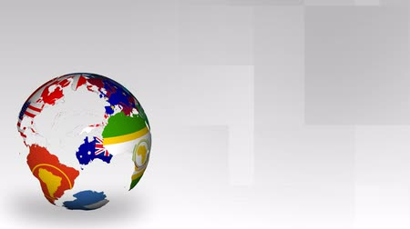 tudo : Rotating Globe of Nations of the world
