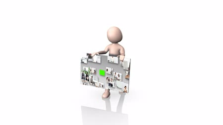 confiança : 3d composite animation showing people working in business situations