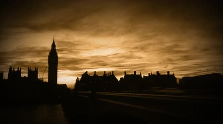 big ben : London City  Stock Footage