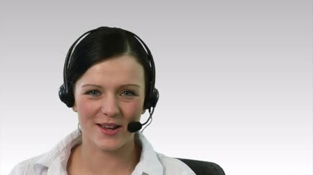 yardım hattı : Businesswoman on a headset 2 Stok Video