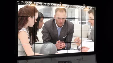 blueprint : A meeting of architects in a company  in High definition video format  Stock Footage