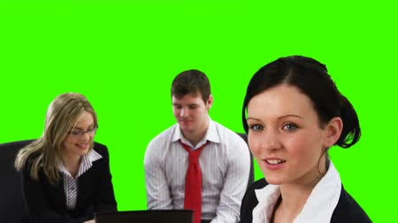 пять : Green Screen footage of Teamwork in Business concept 3