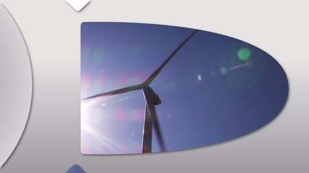moinho de vento : Montage presenting the concept of wind energy in high definition Vídeos