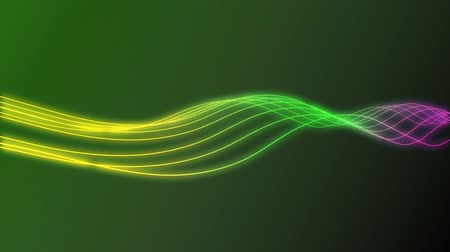сверкающий : Animation of colorful Curves Background in High Definition