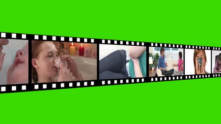estilo de vida saudável : Green Screen montage of Lifestyle Footage