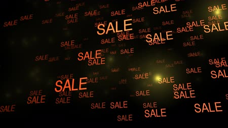 red symbol : Sale signs Falling in HD. Great for showing retail concepts