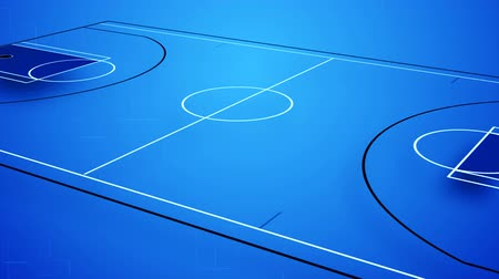 jogadores : Animation of an interactive basket field in blue colours