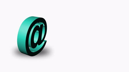 post and beam construction : Animation of an email Symbol in High Definition. Useful for all kinds of communication and email concepts