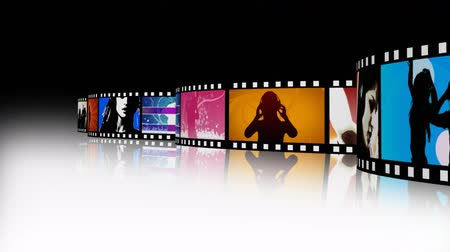 bioscoop : High-Definition Entertainment Film Film Reel Stockvideo
