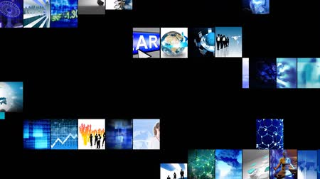 хайтек : Animation of collage of digital technology in high definition
