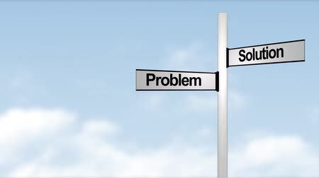 yolları : Problem and Solution signpost in HD Stok Video