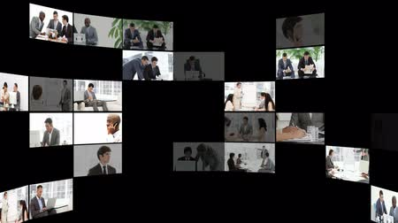стремление : Montage of serious business people at work. Business concept.