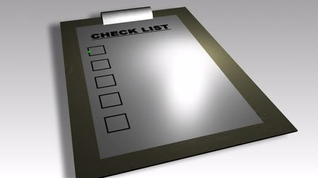 interno : 3D business check list animation